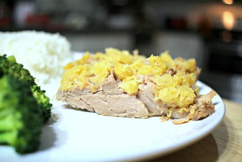 Slow Cooker Pineapple Pork Tenderloin
