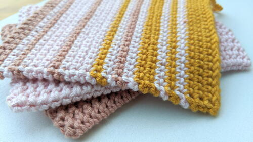 Crochet Thermal Stripes Potholder