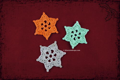 Crochet Mini Star Snowflakes
