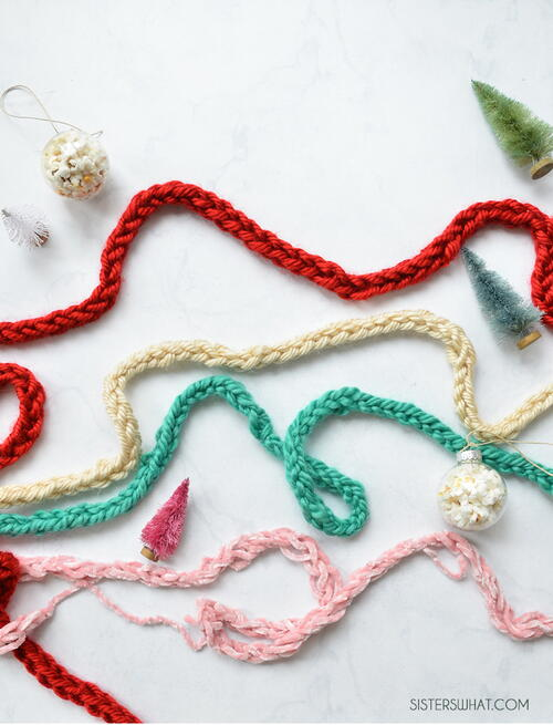 How To Finger Knit A Garland