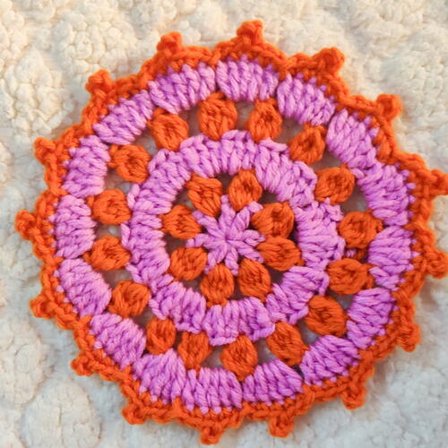 Picot Flower Doily Coaster