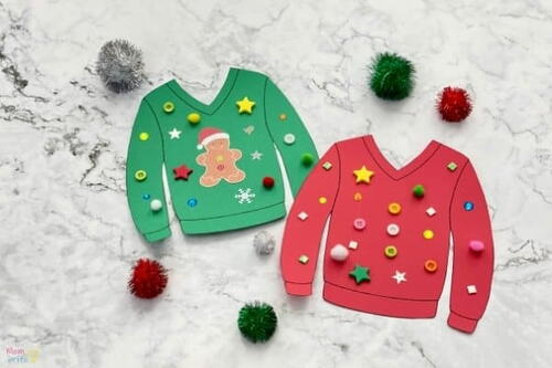Ugly Christmas Sweater Craft For Kids
