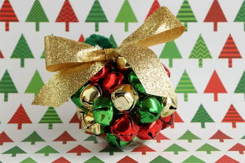 Diy Jingle Bell Ball Ornaments