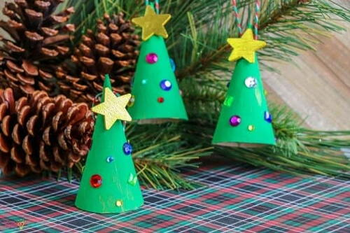 Christmas Tree Cone Ornament Craft