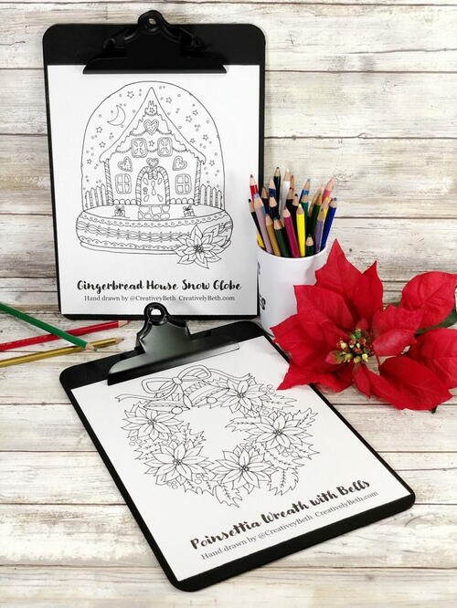 Free Hand-drawn Christmas Coloring Pages