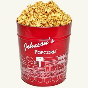 Johnson's Carmel Corn Popcorn Tin Giveaway