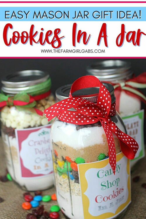 Cookies In A Jar Mason Jar Gifts