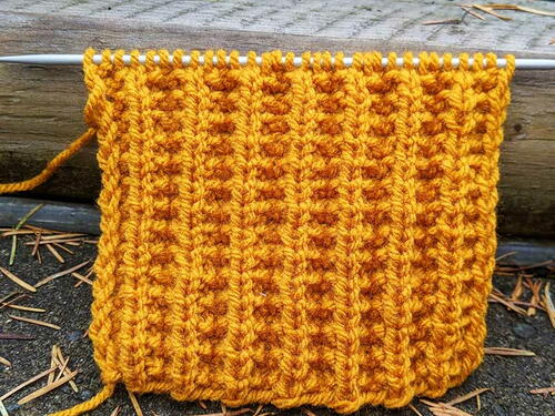 Ribbed Seed Stitch