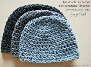 Half Double Crochet Hat Pattern