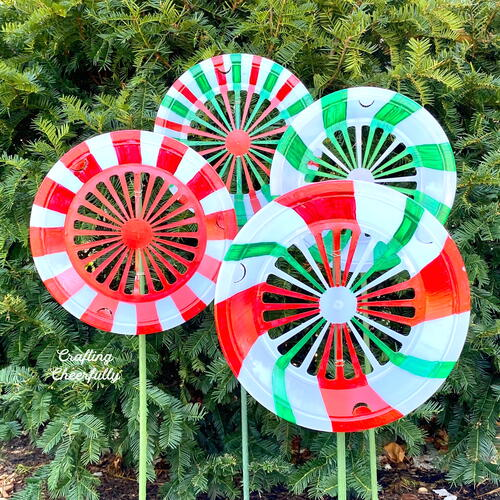 Diy Outdoor Decorations - Christmas Peppermints