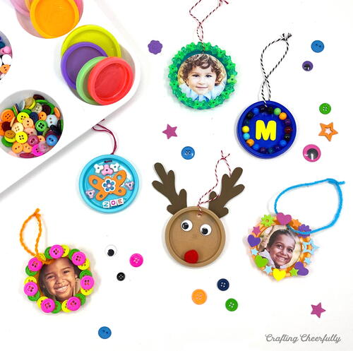 Recycled Play-doh Ornaments