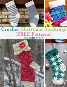 31 Crochet Christmas Stockings (FREE Patterns)