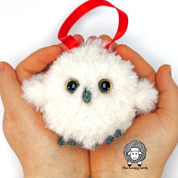 Baby Owl Crochet Tree Ornament