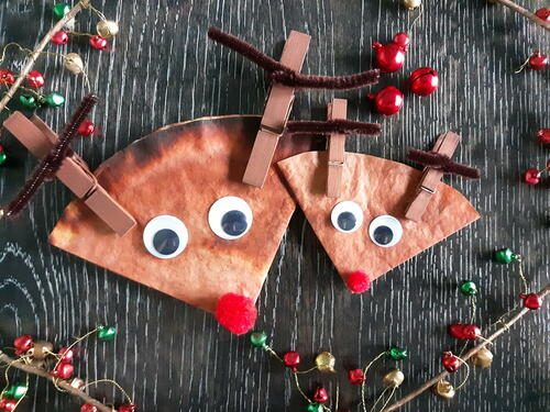 Coffee Filter Reindeer Christmas Craft