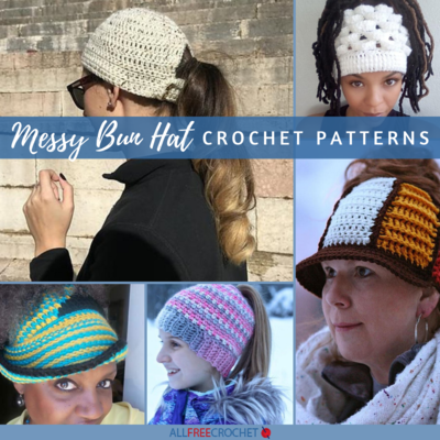 30 Free Messy Bun Hat Patterns