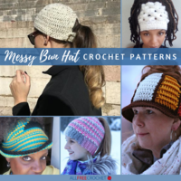 30+ Free Messy Bun Hat Patterns