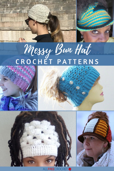Pin this messy bun hat collection image!