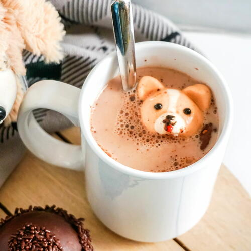 Diy Hot Chocolate Bombs With Corgi Marshallows