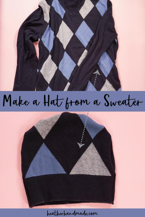 Make A Hat Out Of A Sweater
