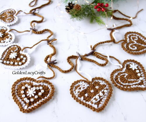 Crochet Gingerbread Garland
