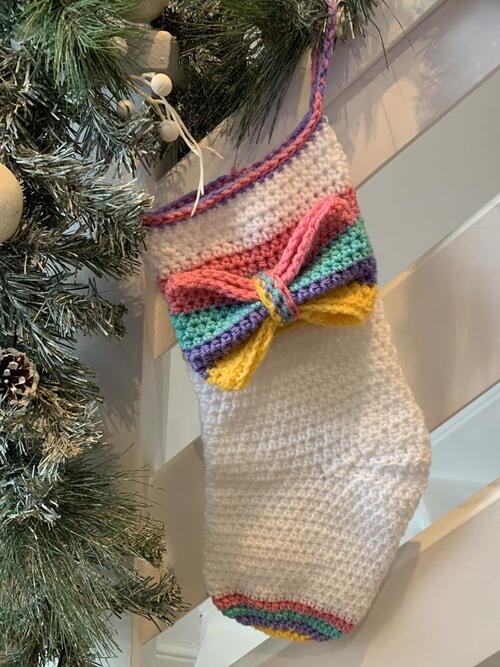 2020 Rainbow Christmas Stocking