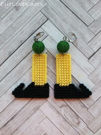 Elf Leg Earrings