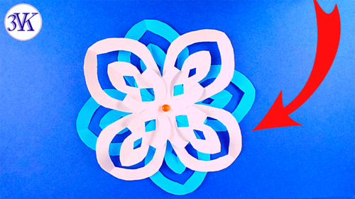 How To Make A Snowflake A Flower From Paper