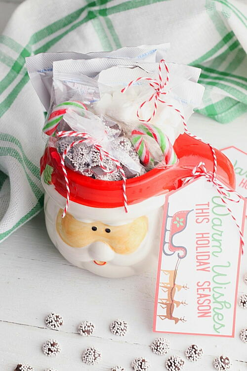 Dollar Store Hot Chocolate Gift Mug