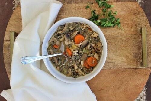 Hearty Turkey Wild Rice Soup Slow Cooker