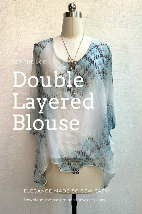 Double Layered Blouse Free Sewing Pattern And Tutorial