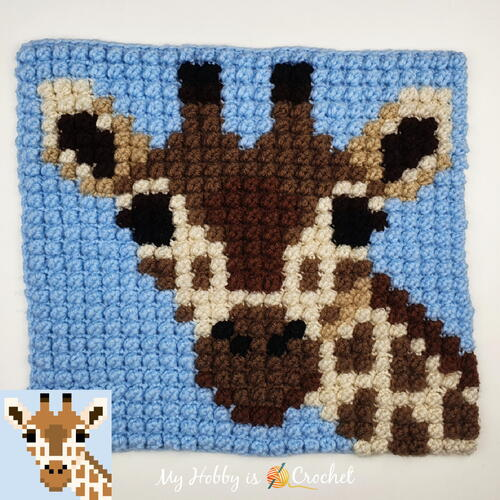 How To Crochet Graphs With The Bobble Sc | Giraffe Block (with Video Tutorial)