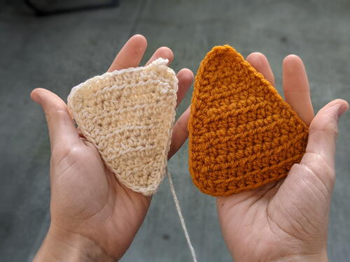 Crochet Equilateral Triangle