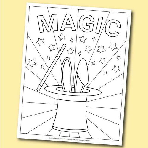 Magic Hat Coloring Page