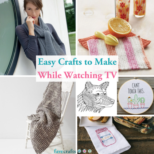 Easy Crafts to Make While Watching TV