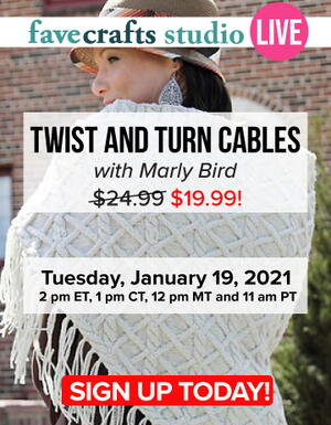 Twist & Turn Cables with Marly Bird