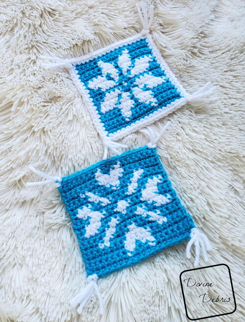 Cute Snowflakes Coaster Set