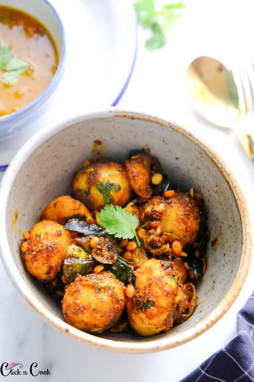 Chettinad Potato Roast Recipe