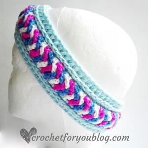 Crochet Braided Chains Headband Ear Warmer