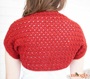 Simple Scarlet Crochet Shrug Pattern