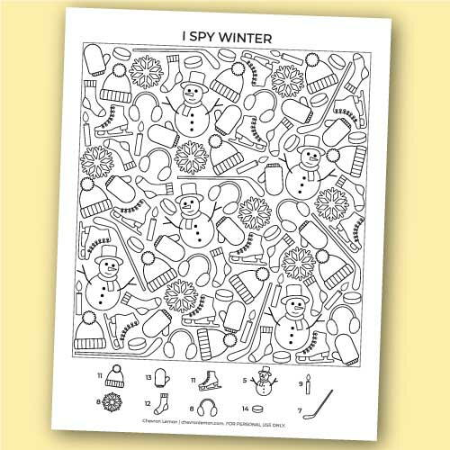 Printable I Spy Winter