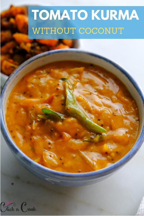 Tomato Kurma Without Coconut