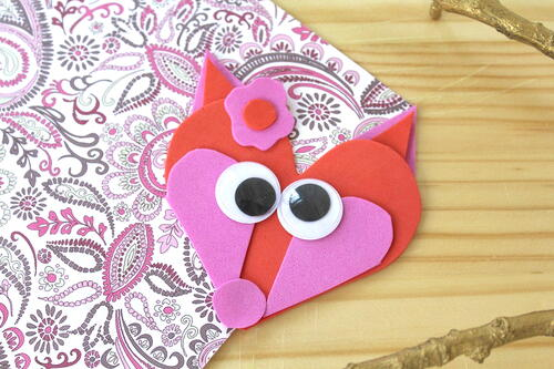 Easy Valentine's Day Fox Craft For Kids