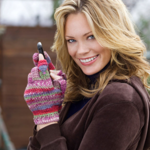 Striped Texting Gloves