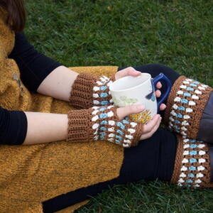 Diamonds and Gems Fingerless Gloves and Boot Cuffs