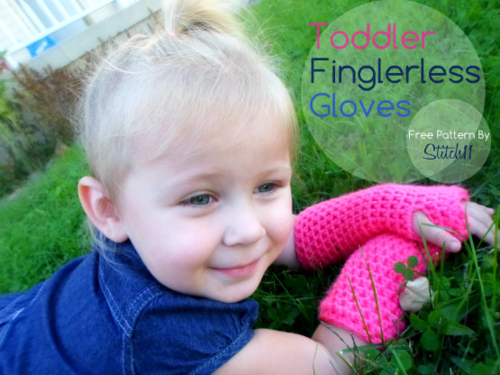 Toddlers Crochet Fingerless Gloves