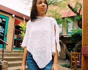 Ice Crystals Poncho