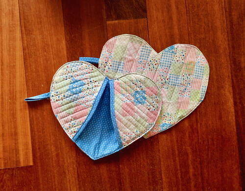 Heart Shaped Pot Holders