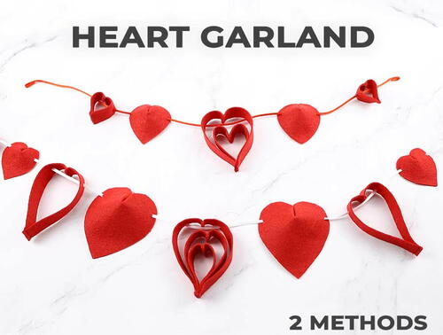 Heart Garland With A Stapler