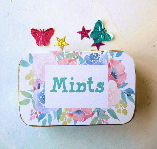 Handmade Mints With Free Printable Altoid Tin Decoration