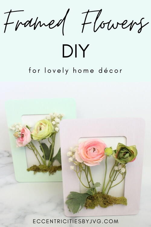 Framed Flowers For Home Decor